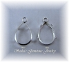 PEAR 1-RING LOW WALL BACKSET EARRING DROPS - SERIES 204-060